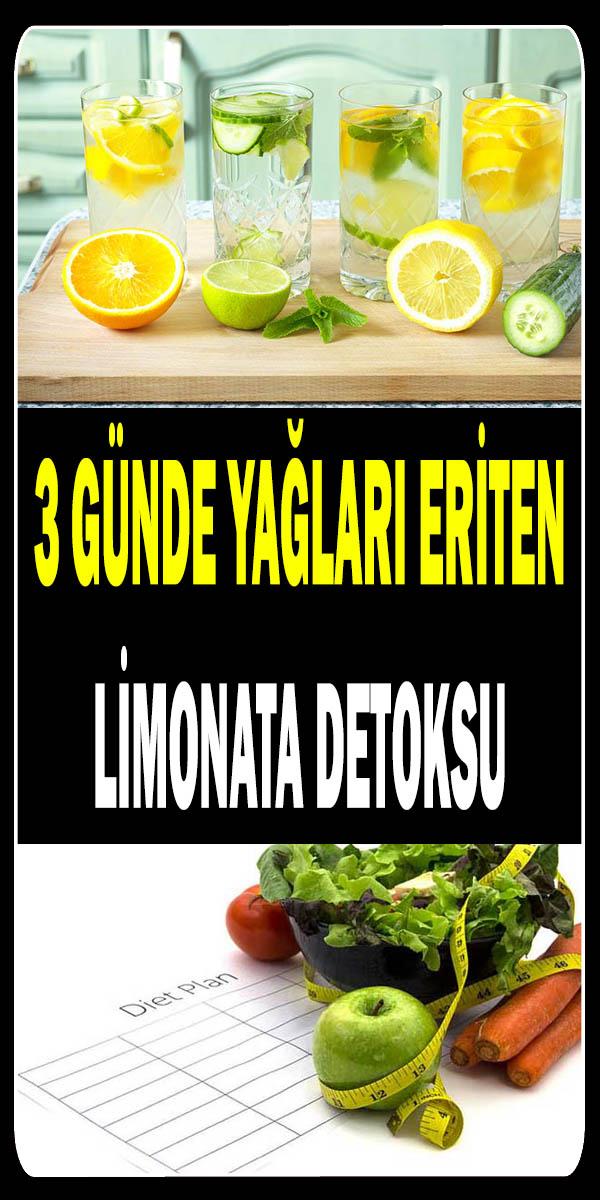 3 günde yağları eriterek kilo verdiren limona diyeti