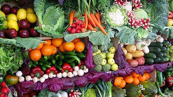 kış sebzeleri ve kış meyveleri