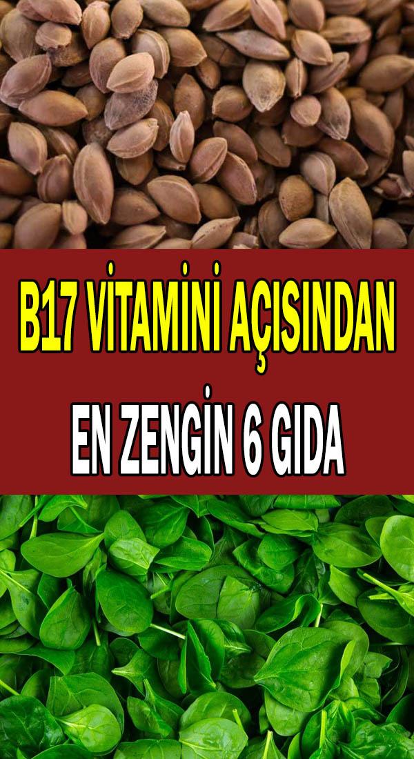 B17 vitamini açısından en zengin gıdalar
