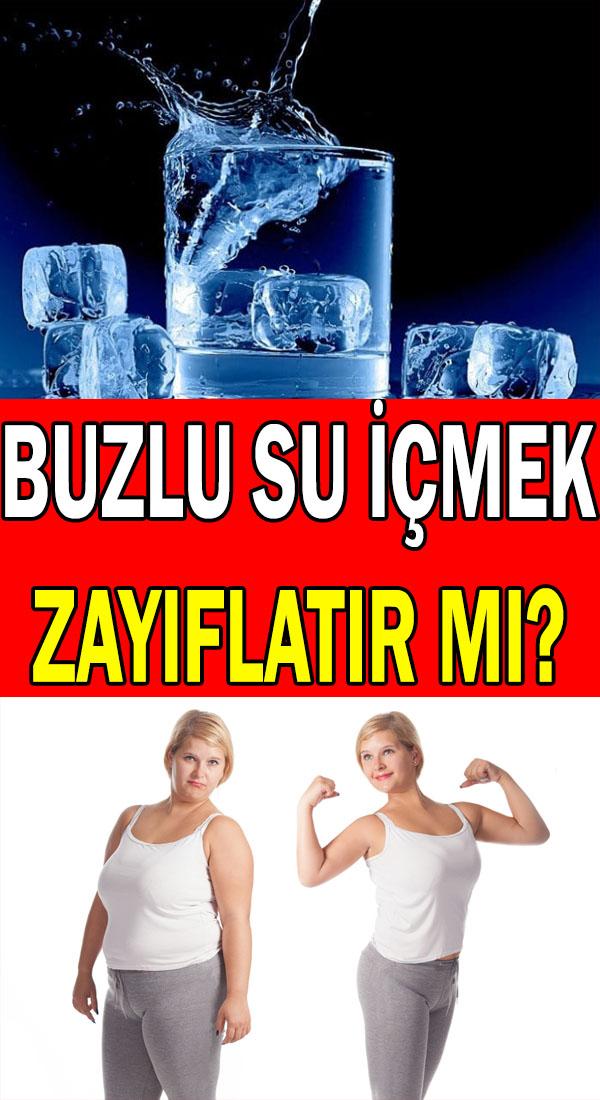 buzlu su ile zayıflamak mümkün mü