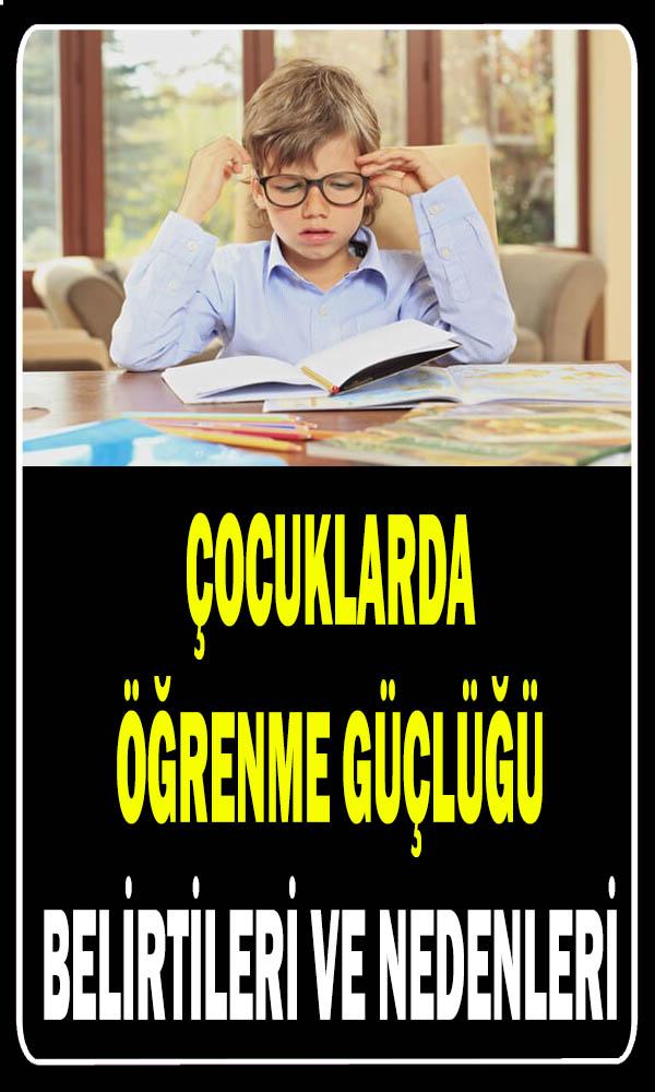 Çocuklarda öğrenme güçlüğü belirtileri