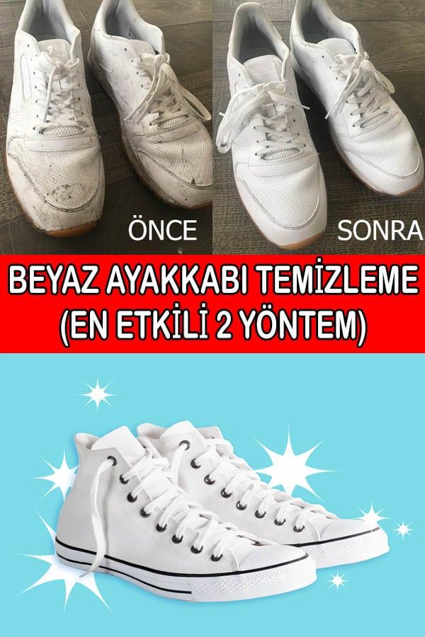 beyaz ayakkabı temizleme yöntemleri
