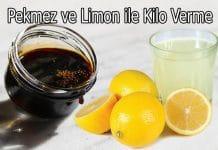 pekmez ve limon ile kilo verme