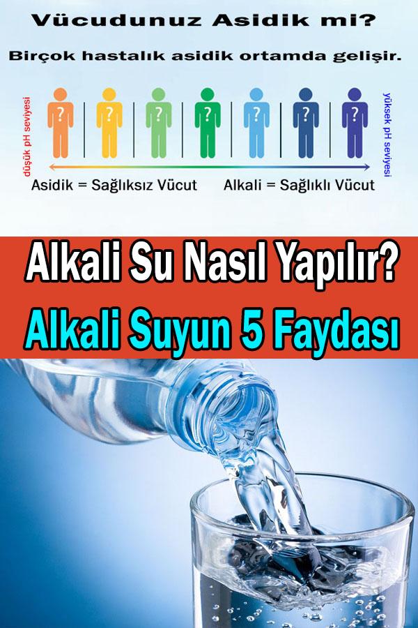alkali su nasıl yapılır alkali suyun faydaları