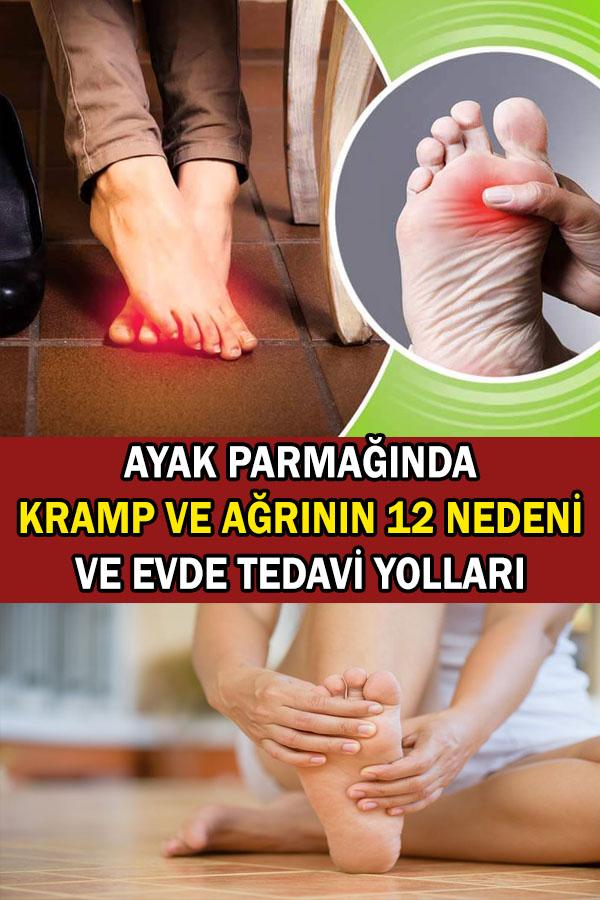 ayak parmağında kramp ve ağrı nedenleri ve tedavi yolları