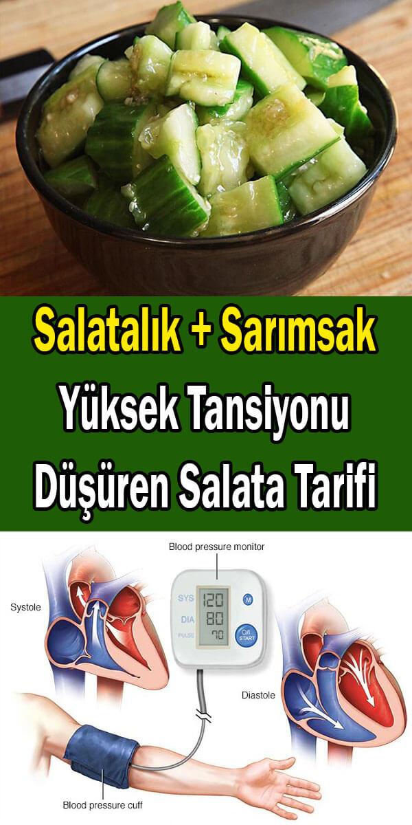yüksek tansiyonu düşüren salata tarifi