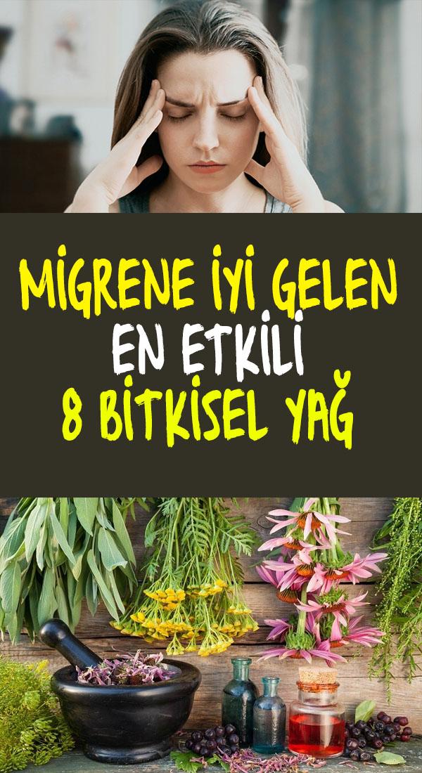 migrene ve baş ağrısına iyi gelen bitkisel yağlar