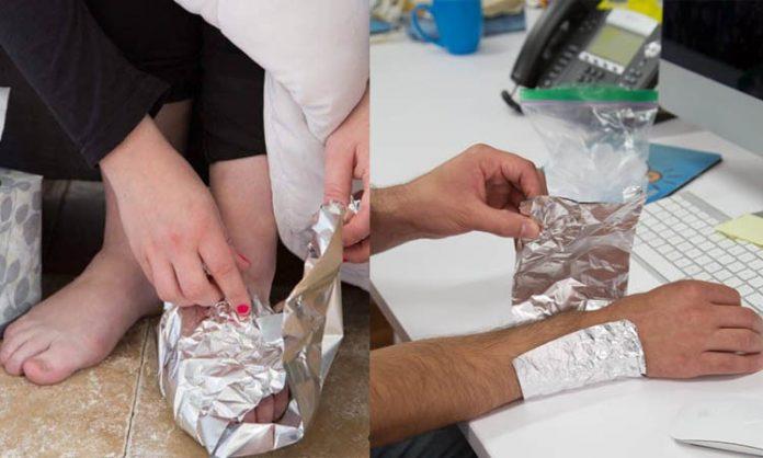 Alüminyum folyonun tedavi amaçlı kullanımları