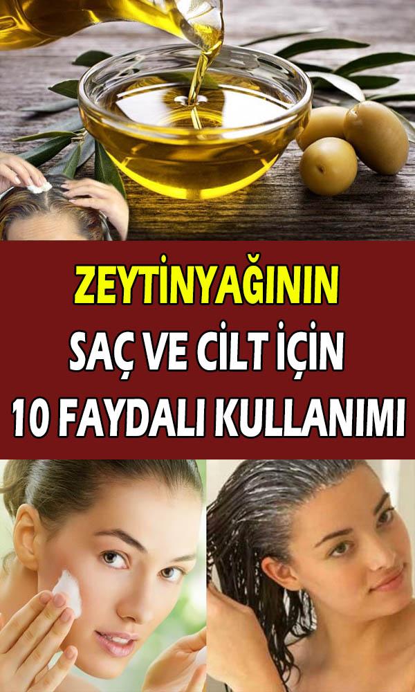 Zeytinyağının saç ve cilt bakımı için kullanımları