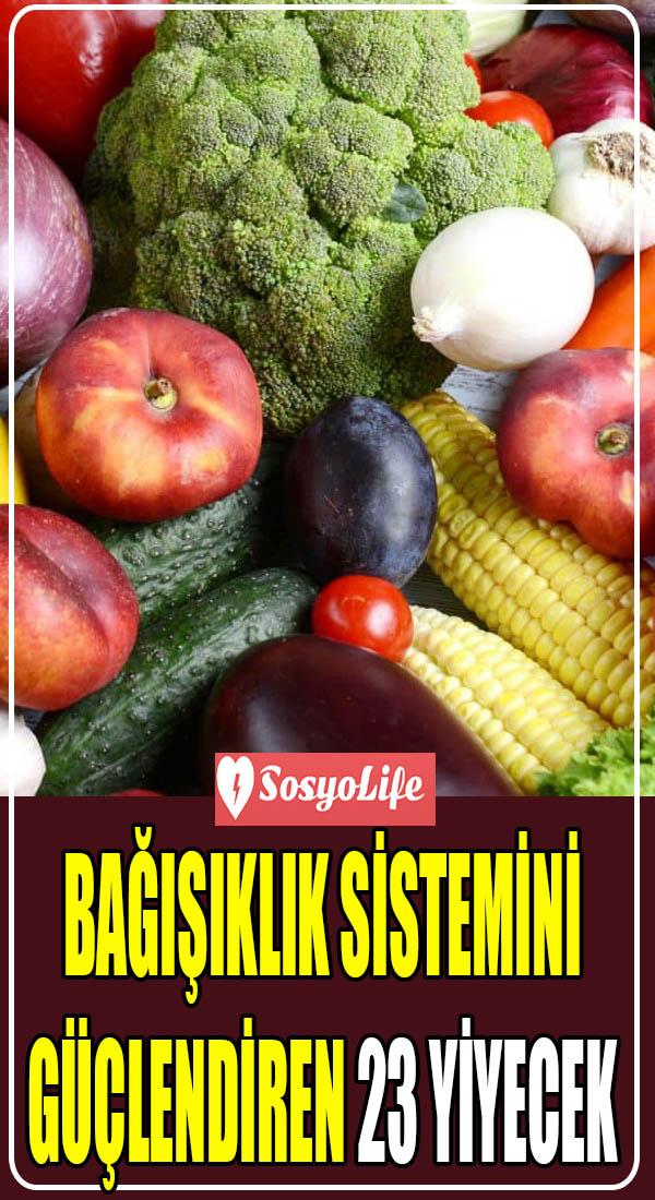 bağışıklık sistemini güçlendiren yiyecekler